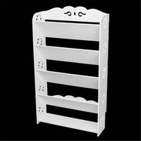 Wholesale rack rooms shoes for sale - Group buy HOT Household storage collection storage rack Wood plastic Board Five Tiers Bevel Carved Shoe Rack White Shoe rack