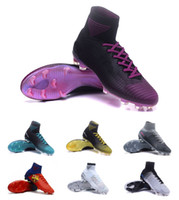Wholesale cr7 football shoes for sale - New Mens Soccer Cleats Mercurial Superfly V SX Neymar FG Soccer Boots Mercurial Superfly V CR7 FG Football Boots High Ankle Football Shoes