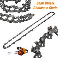 cadena de eslabones de madera al por mayor-14 pulgadas Chainsaw Chain Blade Wood Cutting Chainsaw Partes 50-52 Drive Links 3/8 Pitch Chainsaw Sierra Mill Chain