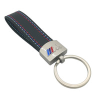 Wholesale Bmw Leather Key - Fashoin Metal+Leather Keychain Key Chain Key Ring Keyring For BMW M Tech M Sport M3 M5 X1 X3 E46 E39 E60 F30 E90 F10 F30 E36