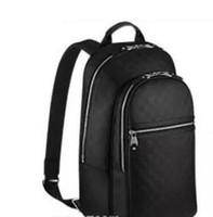 bolsa de lona de couro mochila venda por atacado-venda quente de boa qualidade PU de couro mochila damierr grafite mochilas de lona saco de escola bolsa de saco N58024 homem