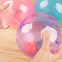 ingrosso giocattolo palla palla-Palloncino trasparente Ornamento Mix Colore Bubble Ball Filling Blow Creativo Bambini Kid Toy Elastico gonfiare Spedizione gratuita 2 5gr V