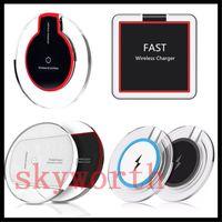 ingrosso set di caricabatterie wireless-Caricabatterie wireless Qi Caricabatterie senza fili Set per iPhone X 8 Samsung Note8 S8 S7 S6 Caricatore wireless per LG con pad