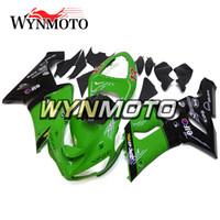 motosikletler için desal kitleri toptan satış-Kawasaki ZX-6R 2005 - 2006 Yeni Bodywork Motosiklet ZX-6R 2005 2006 Kapakları Yeşil Siyah Kırmızı Çıkartmaları Plastik ABS Enjeksiyon Fairing Kitleri