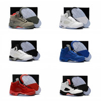 Wholesale Children Sizes - Children 5 Basketball shoes for Boys Girls OG Black 5s Olympic metallic Gold White Cement Youth Sports Sneakers Kids size EU28-35