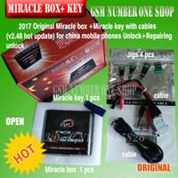 caixas de desbloqueio para celular venda por atacado-Original Miracle box + chave Milagre com cabos (2.38A atualização quente) para celulares China desbloquear + reparação desbloquear
