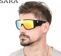 lentes de gafas individuales al por mayor-SARA Brand Sport Goggle Dragon Gafas de sol Hombres HD Single Lens Mirror Driving Sun Glasses Mujeres Diseñador UV400 Alta Calidad 2030