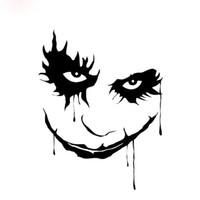 aufkleber für auto windschutzscheibe großhandel-Joker Gesicht reflektierende wasserdichte Autofenster Wand Bummper Laptop Aufkleber CA-84