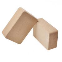resbalones de ladrillo al por mayor-Alta densidad Natural Cork Yoga Brick Eco-Fridenly antideslizante Dance Pilates Leg Pressing Exercise Yoga Block Equipment