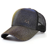 Wholesale lover balls online - Gradient Color Cap Men And Women Baseball Caps Summer Net Yarn Lovers Comfortable Sunscreen Outdoor Sports Hat xh hh