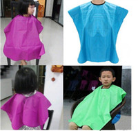 Wholesale cutting gowns hairdressing - New kid child salon waterproof hair cut hairdressing barbers cape gown cloth kids baby hair capes top quality