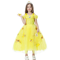Wholesale Cartoon Character Costume Princess - Halloween 2017 new child Princess Dress Character cosplay costume Girls Dress dress queen Cartoon Character cosplay skirt