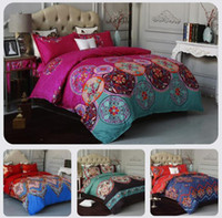 Wholesale colorful duvet cover sets for sale - Group buy Ethnic Style Bohemian Bedding Set Colorful Duvet Cover Set with Pillowcase King Queen Size Bedlinen Bedspread