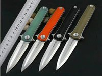 Wholesale Rescue Blades - Newest STEDEMON Studio C05 Tactical Folding Knife 14C28N Blade G10 Handle Outdoor Camping Hunting Survival Pocket Rescue Utility EDC Tools