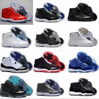 Wholesale Cheap Men Sneakers Online - 2018 New Cheap Retro XI Elite Basketball Shoes Men Retro Retro 11 Sneakers High Quality Online Original Discount Sports Shoes Size 7-12