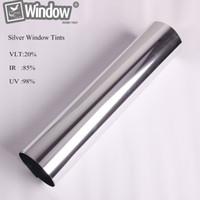Wholesale Window Privacy Film - Sunice 50cm x150cm Solar window Tints Reflective silver & silver sticker one way mirror window film privacy security