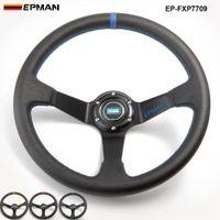 volantes profundos venda por atacado-EPMAN-14 polegadas 350mm Deep Drifting Volante de Direção DO PVC Universal Car Auto Racing Volantes EP-FXP7709