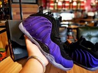 Wholesale foam shoes for men - 2018 New Penny Hardaway Foams Eggplant Purple Copper Mens Sports Basketball Shoes for AAA quality Foam One Trainers Designer Sneakers
