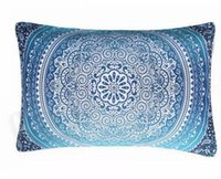 Wholesale decorative bohemian pillows - Bohemian Pillow Cover Cushion Christmas Gifts Mandala Pillowcase Wedding Decorative Ployester High Quality Pillow Cover 50*30cm