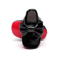 bebek kırmızı altlıklar toptan satış-HONGTEYA püskül Patent deri Kırmızı alt yumuşak taban Bebek Moccasins bebek erkek kız Ayakkabı papyon Bebek yürüyor ilk yürüyüşe