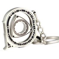 sıcak rotorlar toptan satış-Yeni Rotor Anahtarlık Sıcak Otomobil Parçaları Modeli Gümüş Motor Döner Anahtarlık Anahtarlık Zinciri Keyfob Anahtar Tutucu