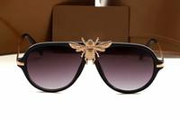 ingrosso occhiali da sole firmati specchio italia-2018 New big bee occhiali da sole per donna uomo italia famoso band designer occhiali da sole moda occhiali stile 1885 occhiali ombra specchio occhiali