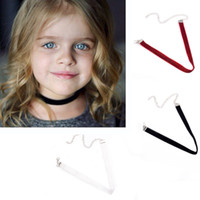 Wholesale Gothic Red Necklace - Summer Style Girl Choker Necklace Black White Red Velvet Gothic Chockers Necklaces decorate Fashion Jewelry For Daughter Girl Gift