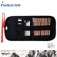 Wholesale marco pencil - Marco Safe Non-toxic Sketch Pencils Artist Professional Pencils Set For Write Drawing Art Supplies School Student Stationery