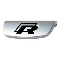 vw passat руль оптовых-Металлический стикер рулевого колеса R Rline Эмблема для VW Volkswagen 2017 Jetta Touran Golf 7 GTI MK7 Passat B8 Аксессуары Стайлинг автомобиля