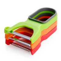 фрукты сало оптовых-угри Zesters 3 pc Multifuction овощной фруктовый картофелечистка Magic Peeler Set Trio Peeler Slicer Shredder julienne Zesters Kitch...