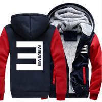 Wholesale Usa Coatings - Wholesale- 2017 USA SIZE Men Women Hip-hop Eminem Adult Thicken Men Hoodies Zipper Sweatshirts Coat Jacket