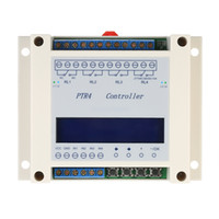 ingrosso interruttore lcd-Freeshipping DC6-40V 4-Channel Digital Switch Relay Relay Module Timer Relay Indipendente Tempo Ciclo Programmabile Display LCD Relè