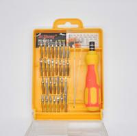 teléfono celular pieza al por mayor-Kit de herramientas de precisión de alto rendimiento para reparaciones de teléfonos celulares Teléfonos Tabletas Portátiles Computadoras Dispositivos electrónicos con 32 piezas