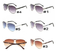 Wholesale Newest Design Sunglasses - summer newest Luxury ladies driving metal Sunglasses man Fashion design sunglasses woman 5colors Eyewear black sun glasses AAA free shipping