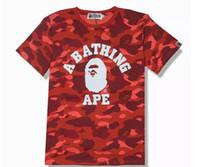 harajuku sportswear achat en gros de-2019ss hommes Tshirt Hip Hop suprer Tops Tees Pullover Sportswear Box Logo Kanye West Harajuku Classique aape T-Shirts