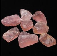 rosenquarzsteine großhandel-50G natürliche rohe rosa Rosenquarz Kristall Stein Probe Heilung Kristall Liebe Natursteine und Mineralien Aquarium Stein