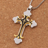 Wholesale prayer necklaces - Black Gold color Crucifix Bible Prayer Cross Pendant Men Necklace Chain 24inches N1785 Hot sell Jewelry