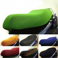 fahrradsitz elektrisch großhandel-3D Sommer Elektrische Fahrradsitz Honeycomb Mesh Sonnencreme Atmungsaktive Sitzkissen Motorrad Sitzbezug Net