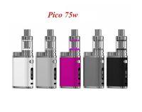 mini tank e cig kit großhandel-pico TC 75w stick starter kit TC mods box e cig melo III 3 mini vape box mod kit
