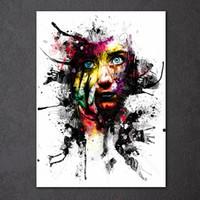 abstrakte gemälde gesichter großhandel-1 Stück Leinwand Gemälde Gedruckt Kunst Abstrakte Frau Gesicht Malerei Farbe Wandbild Für Wohnzimmer Kostenloser Versand NY-7163C