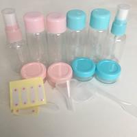 venta de contenedores vacíos al por mayor-8 Unids / set Essensial Travel Mini Plástico Transparente Vacío Contenedor de Maquillaje Botellas Herramientas de Belleza Venta Caliente