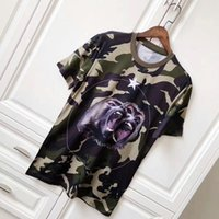 Wholesale Roar Shirt Xl - 2018 New Arrival Summer Luxury Style Mens Short Sleeve t shirt mens camouflage Roar orangutan star designer T Shirts casual cotton cloth