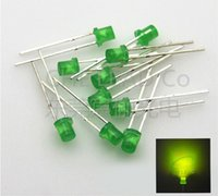 1000pcs LED 3mm Diffused White-Yellow Round Top F3 DIP Light Emitting Diode