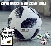 Wholesale paste cup - 2018 New RUSSIA Premier PU football Ball World soccer Ball high-grade seamless paste skin Soccer outdoor Sport Training football Cup best