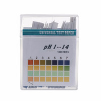 Wholesale ph indicator paper - 100 Strips 1-14 PH Alkaline Acid Indicator Paper Water Saliva Litmus Testing Kit Tester Tools T12 Drop ship