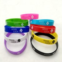 Wholesale wide jelly bracelets for sale - Group buy 100pcs Print Good luck four leaf clover Elastic Silicone Bracelet wide Rubber wristbands for men women s jewelry Cuff Fashion Accessories