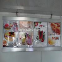 Wholesale restaurant menu boards - (4graphics Column) Restaurant Led Menu Board Display for Restaurant,Hotel,Cafe Shop (Single sided)