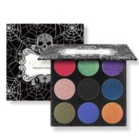 ingrosso set di glitter trucco-TZ Brand 9Colors Eyeshadow Palette Matte Diamond Glitter foiled Eye Shadow in One Palette Blush Makeup Set per la bellezza