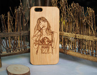 Wholesale laser engraved iphone case for sale – best Wooden Laser Engraving Phone Case For iphone X s plus Eco friendly Wood TPU Protective Cover Cases For Samsung Galaxy S9 S8 S7 S6