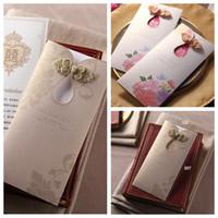 zarf düğün toptan satış-2018 Toptan Lazer Kesim Düğün Davetiyesi Kartları Ile Kişiselleştirilmiş Resmi Düğün Parti Yazdırılabilir Davetiye Zarf Mühürlü Kart
